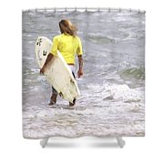 Into The Water Shower Curtain