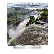 Iquassu Falls - South America Shower Curtain