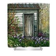 Iris By Barn Shower Curtain