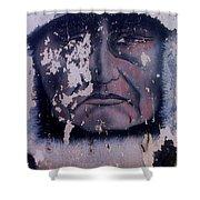 Iron Eyes Cody Homage The Big Trail 1930 The Crying Indian Black Canyon Arizona 2004 Shower Curtain