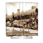 Iron Horse Boneyard Shower Curtain