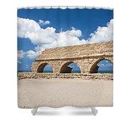 Israel Caesarea Aqueduct  Shower Curtain