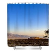 1-israel Negev Desert Landscape  Shower Curtain