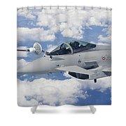 Italian Air Force Eurofighter Typhoon Shower Curtain