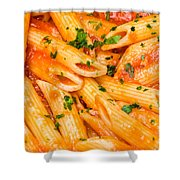 Italian Pasta - Penne All'arrabbiata Shower Curtain
