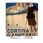 Italian Travel Poster Shower Curtain