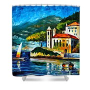 Italy Lake Como Villa Balbianello Shower Curtain