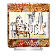 Italy Sketches Venice Hotel Shower Curtain