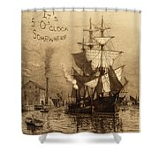 It's 5 O'clock Somewhere Shower Curtain by John Stephens