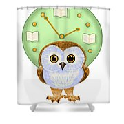 It's Read O'clock Shower Curtain