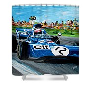 Jackie Stewart /tyrrell Shower Curtain
