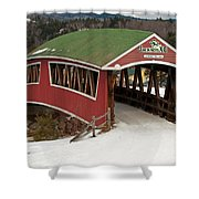 Jackson Cross Country Skiing Bridge Shower Curtain