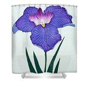 Japanese Flower Shower Curtain
