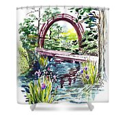 Japanese Tea Garden San Francisco Shower Curtain by Irina Sztukowski