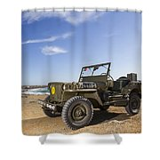 Jeep Willys Shower Curtain