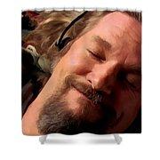 Jeff Bridges As The Dude Shower Curtain