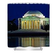 Jefferson Memorial At Night Shower Curtain
