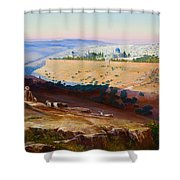 Jerusalem From The Mount Of Olives Shower Curtain