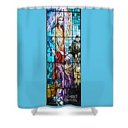 Jesus Healing The Blind Man Shower Curtain