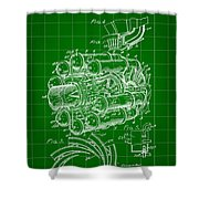 Jet Engine Patent 1941 - Green Shower Curtain