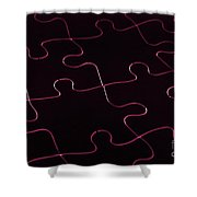 Jigsaw Puzzle Lines Shower Curtain