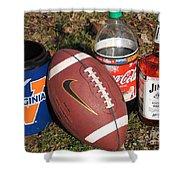 Jim Beam Coke And Football Shower Curtain