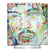 Jimi Hendrix Watercolor Portrait.1 Shower Curtain