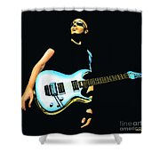Joe Satriani Painting Shower Curtain
