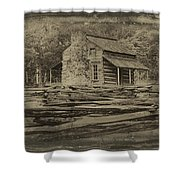 John Oliver Cabin In Cades Cove Shower Curtain