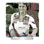 John Wayne In Buckskins The Big Trail 1930-2013 Shower Curtain