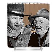 John Wayne Walter Brennan Publicity Photo Red River 1948-2013 Shower Curtain