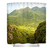 Jungle Landscape Shower Curtain