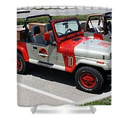 Jurassic Park Jeeps Shower Curtain
