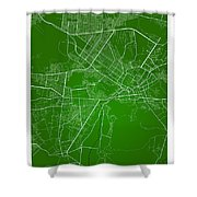 Kabul Street Map - Kabul Afghanistan Road Map Art On Colored Bac Shower Curtain
