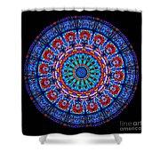 Kaleidoscope Stained Glass Window Series Shower Curtain
