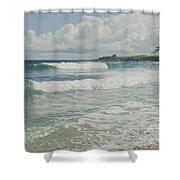 Kapalua Surf Honokahua Maui Hawaii Shower Curtain