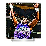 Karl Malone Shower Curtain