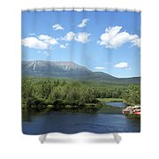 Katahdin From Abol Bridge Shower Curtain