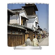 Kawagoe Bell Tower Shower Curtain