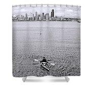 Kayaking Elliot Bay Shower Curtain