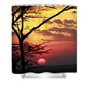 Kenyan Sunset Shower Curtain