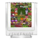 Keukenhof Gardens Poster Shower Curtain