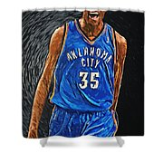 Kevin Durant Shower Curtain by Taylan Apukovska