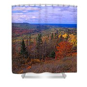 Keweenaw Peninsula And Copper Harbor Shower Curtain