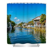 Key Largo Canal 3 Shower Curtain