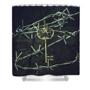 Key Of A Treasure Chest Shower Curtain
