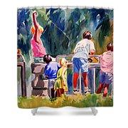 Kids Fishing Shower Curtain