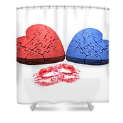 Kisses From The Heart Shower Curtain