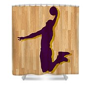 Kobe Bryant Los Angeles Lakers Shower Curtain