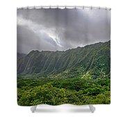 Koolau Waterfalls Shower Curtain